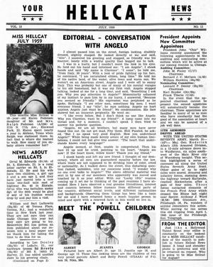 Primary view of object titled 'Hellcat News, (Detroit, Mich.), Vol. 13, No. 11, Ed. 1, July 1959'.