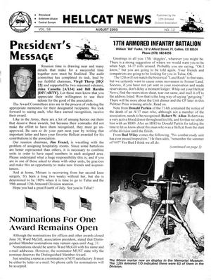 Primary view of object titled 'Hellcat News, (Fullerton, Calif.), Vol. 58, No. 12, Ed. 1, August 2005'.