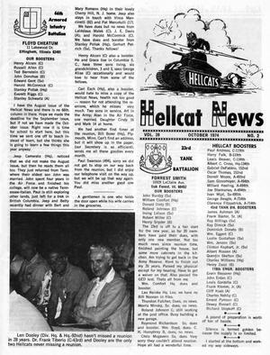 Primary view of object titled 'Hellcat News, (Maple Park, Ill.), Vol. 28, No. 2, Ed. 1, October 1974'.