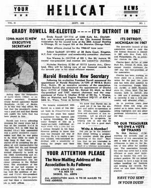 Primary view of object titled 'Hellcat News, (Skokie, Ill.), Vol. 21, No. 1, Ed. 1, September 1966'.