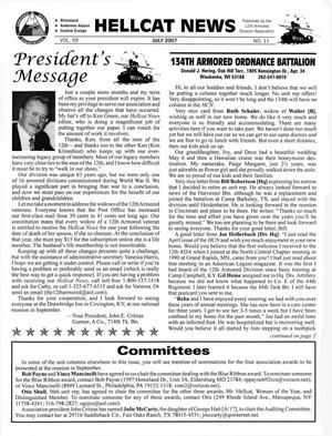 Primary view of object titled 'Hellcat News, (Abilene, Tex.), Vol. 59, No. 11, Ed. 1, July 2007'.