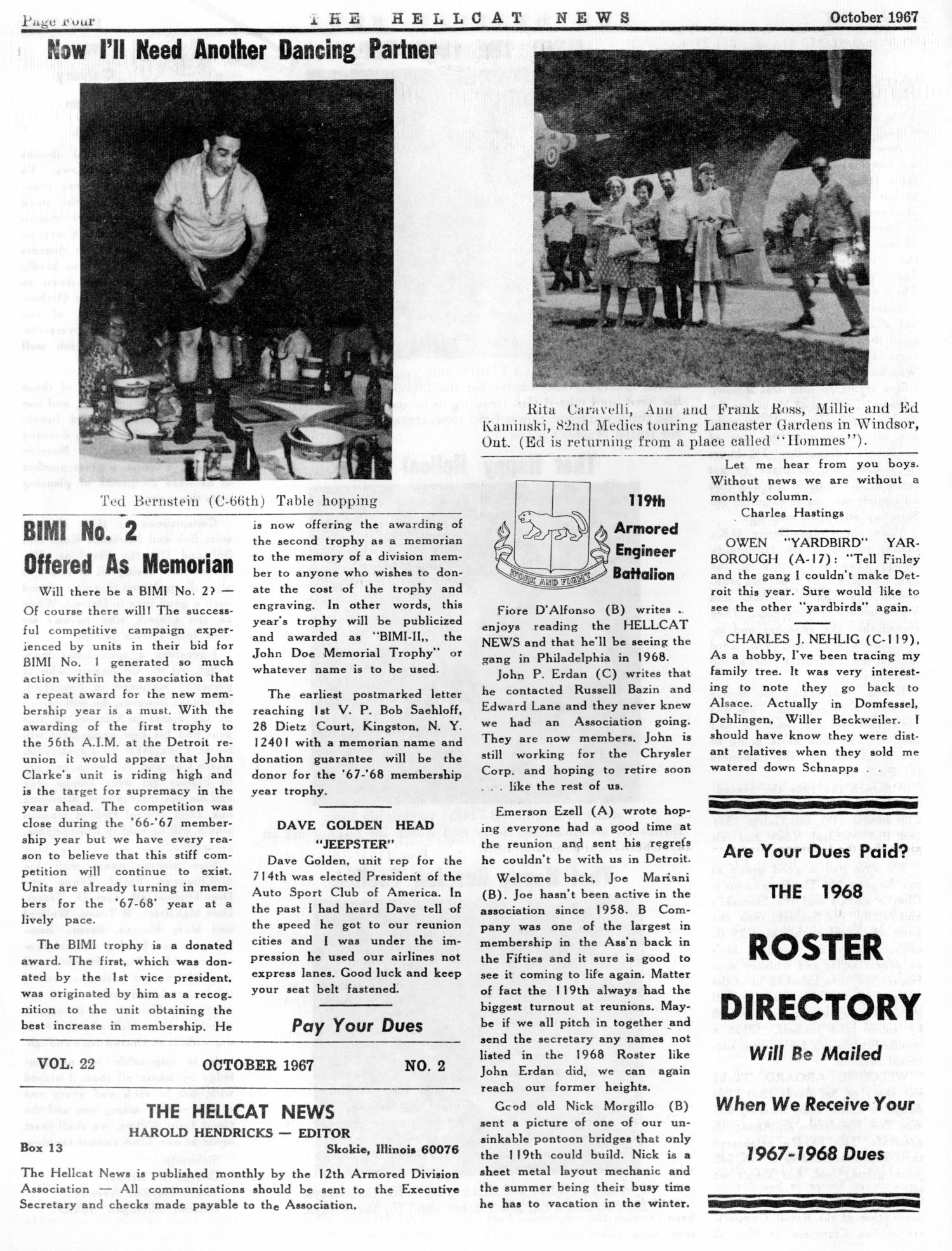 Hellcat News, (Skokie, Ill.), Vol. 22, No. 2, Ed. 1, October 1967                                                                                                      [Sequence #]: 4 of 8