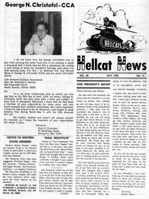Primary view of object titled 'Hellcat News, (North Aurora, Ill.), Vol. 29, No. 11, Ed. 1, July 1976'.