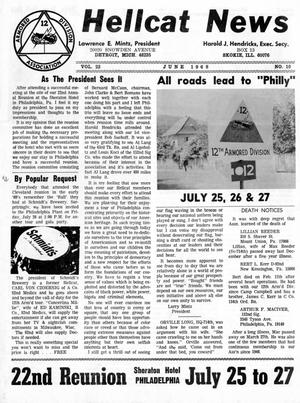 Primary view of object titled 'Hellcat News, (Skokie, Ill.), Vol. 22, No. 10, Ed. 1, June 1968'.