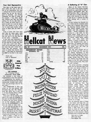 Primary view of object titled 'Hellcat News, (Maple Park, Ill.), Vol. 27, No. 4, Ed. 1, December 1973'.