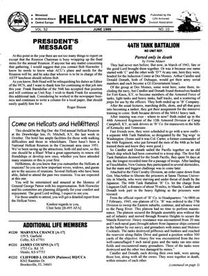 Primary view of object titled 'Hellcat News, (Kingman, Ariz.), Vol. 52, No. 10, Ed. 1, June 1999'.