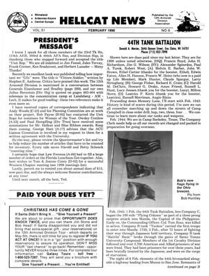 Primary view of object titled 'Hellcat News, (Kingman, Ariz.), Vol. 51, No. 6, Ed. 1, February 1998'.