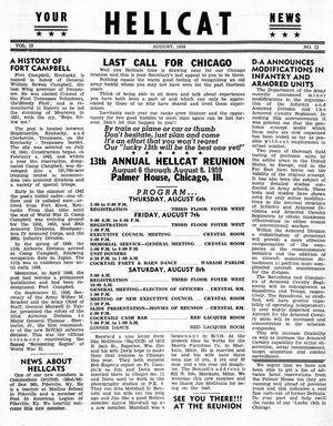 Primary view of object titled 'Hellcat News, (Detroit, Mich.), Vol. 13, No. 12, Ed. 1, August 1959'.