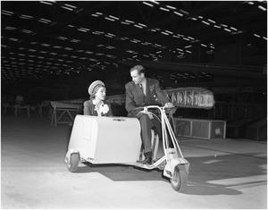 Primary view of object titled '[Helen Hayes and George Newman in motor glide]'.