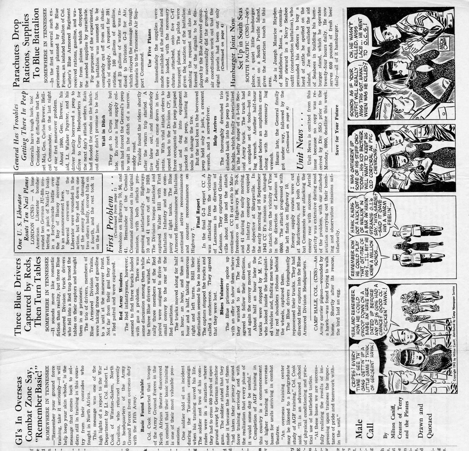 Hellcat News, (Tennessee.), Vol. 1, No. 2, Ed. 1, September 24, 1943                                                                                                      [Sequence #]: 2 of 4