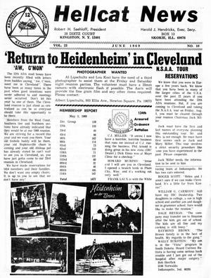 Primary view of object titled 'Hellcat News, (Skokie, Ill.), Vol. 23, No. 10, Ed. 1, June 1969'.
