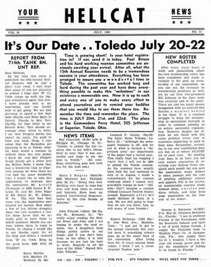 Primary view of object titled 'Hellcat News, (Detroit, Mich.), Vol. 15, No. 11, Ed. 1, July 1961'.