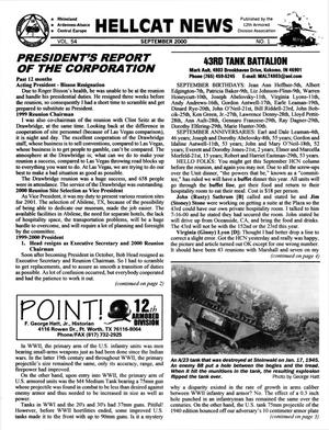 Primary view of object titled 'Hellcat News, (Sheridan, Wyo.), Vol. 54, No. 1, Ed. 1, September 2000'.