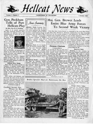 Primary view of object titled 'Hellcat News, (Tennessee.), Vol. 1, No. 3, Ed. 1, October 1, 1943'.