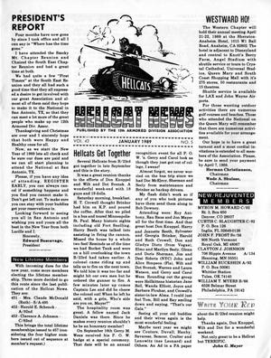 Primary view of object titled 'Hellcat News, (Godfrey, Ill.), Vol., No., Ed. 1, January 1989'.