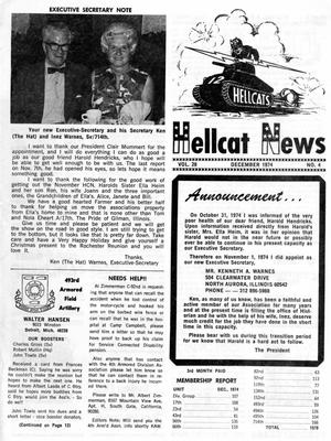 Primary view of object titled 'Hellcat News, (North Aurora, Ill.), Vol. 28, No. 4, Ed. 1, December 1974'.