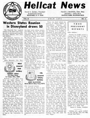 Primary view of object titled 'Hellcat News, (Maple Park, Ill.), Vol. 25, No. 11, Ed. 1, July 1971'.