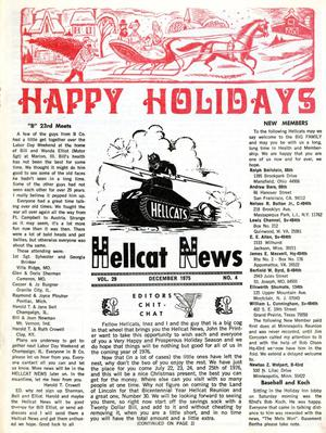 Primary view of object titled 'Hellcat News, (North Aurora, Ill.), Vol. 29, No. 4, Ed. 1, December 1975'.