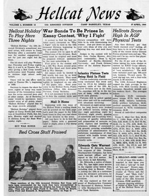 Primary view of object titled 'Hellcat News, Vol. 2, No. 12, Ed. 1, April 27, 1944'.