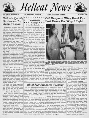 Primary view of object titled 'Hellcat News, Vol. 2, No. 21, Ed. 1, June 29, 1944'.