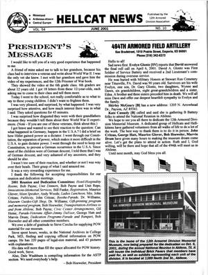 Primary view of object titled 'Hellcat News, (Sheridan, Wyo.), Vol. 54, No. 10, Ed. 1, June 2001'.