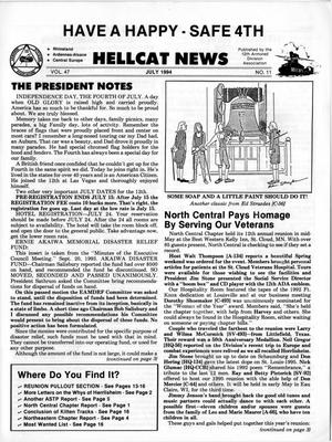 Primary view of object titled 'Hellcat News, (Kingman, Ariz.), Vol. 47, No. 11, Ed. 1, July 1994'.