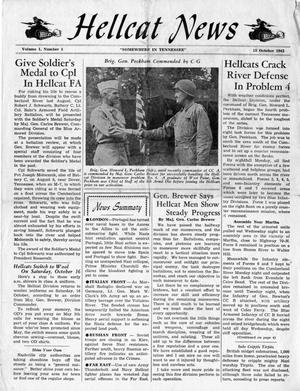 Primary view of object titled 'Hellcat News, (Tennessee.), Vol. 1, No. 5, Ed. 1, October 15, 1943'.