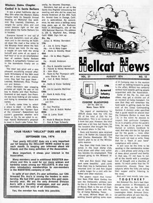 Primary view of object titled 'Hellcat News, (Maple Park, Ill.), Vol. 27, No. 12, Ed. 1, August 1974'.