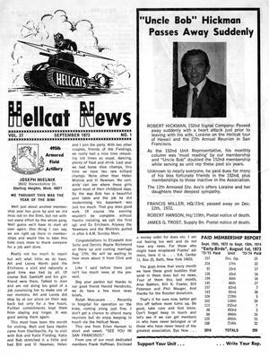 Primary view of object titled 'Hellcat News, (Maple Park, Ill.), Vol. 27, No. 1, Ed. 1, September 1973'.