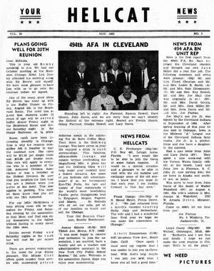 Primary view of object titled 'Hellcat News, (Detroit, Mich.), Vol. 20, No. 3, Ed. 1, November 1965'.