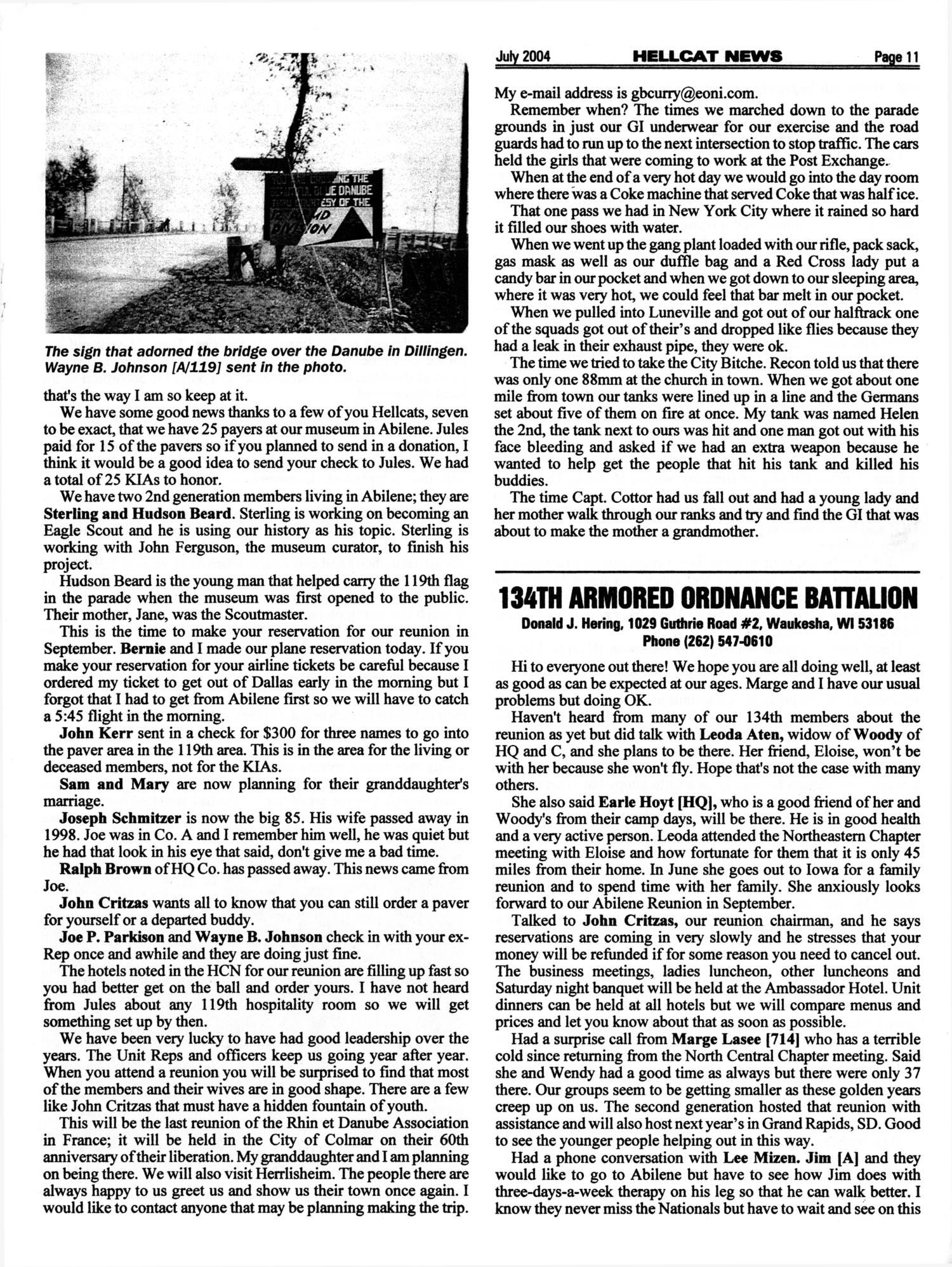 Hellcat News, (Fullerton, Calif.), Vol. 57, No. 11, Ed. 1, July 2004                                                                                                      [Sequence #]: 11 of 20