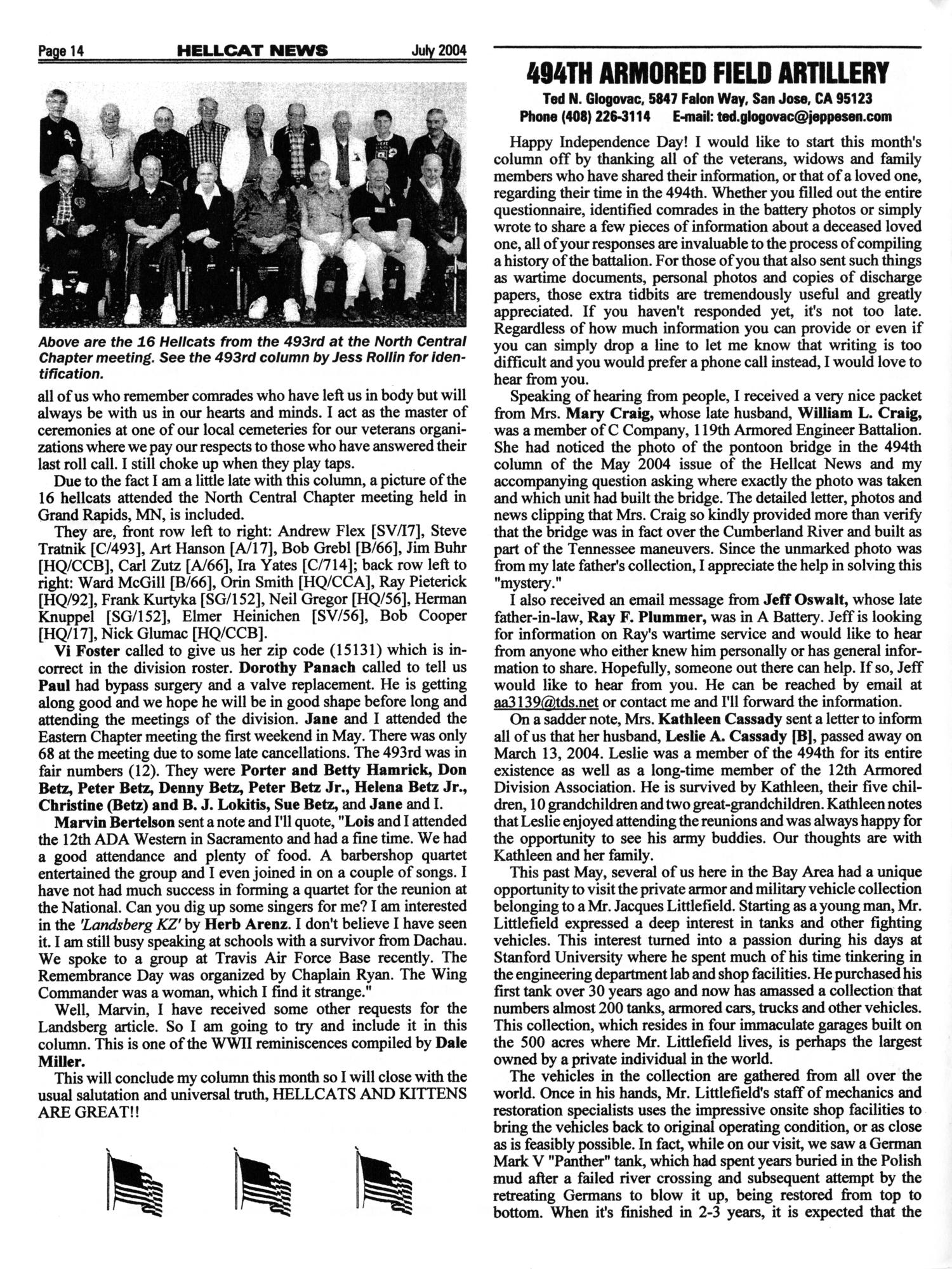 Hellcat News, (Fullerton, Calif.), Vol. 57, No. 11, Ed. 1, July 2004                                                                                                      [Sequence #]: 14 of 20