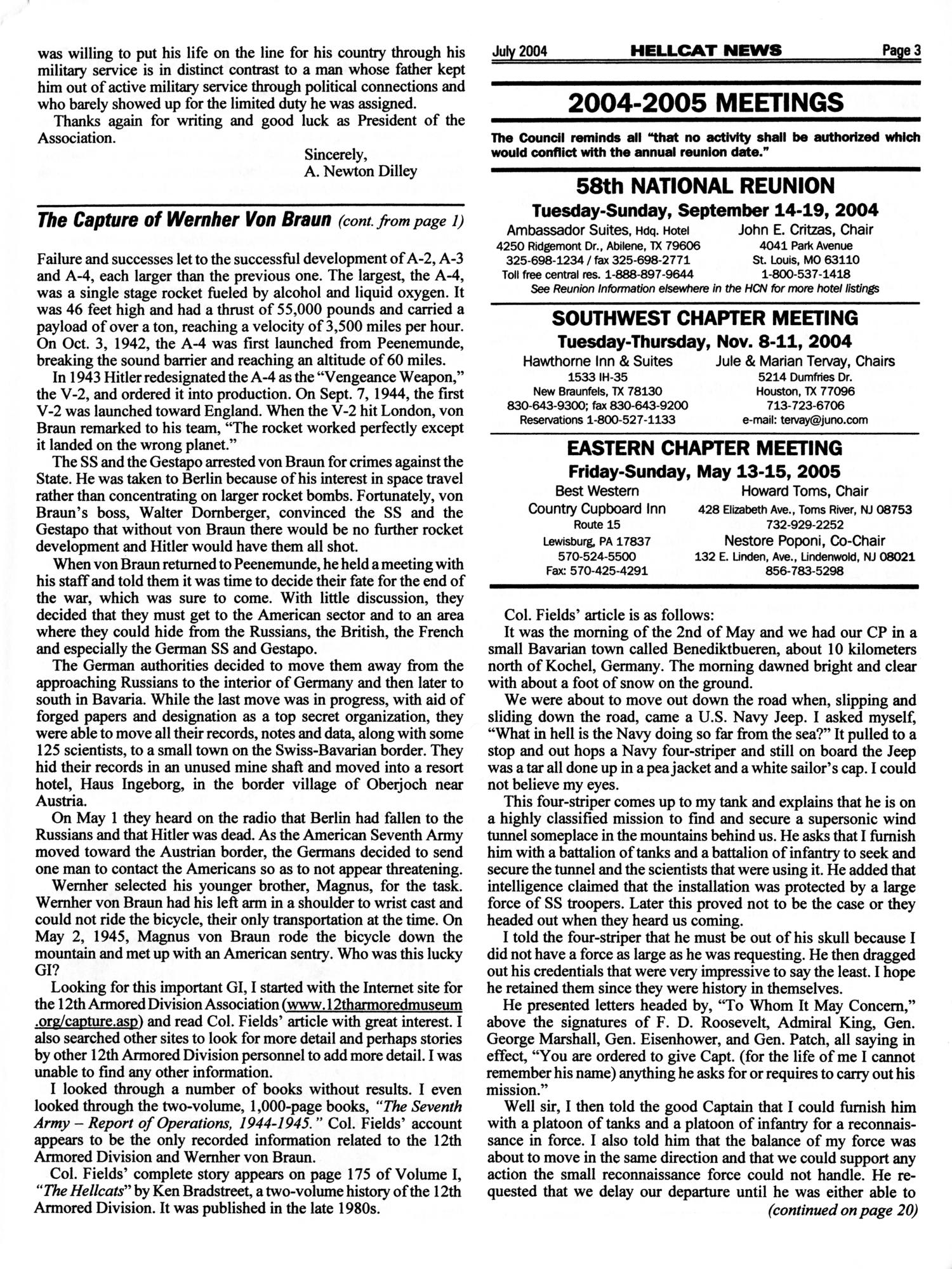 Hellcat News, (Fullerton, Calif.), Vol. 57, No. 11, Ed. 1, July 2004                                                                                                      [Sequence #]: 3 of 20