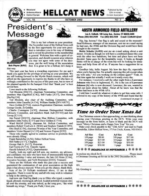 Primary view of object titled 'Hellcat News, (Cincinnati, Ohio), Vol. 56, No. 2, Ed. 1, October 2002'.