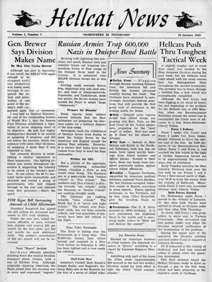 Primary view of object titled 'Hellcat News, (Tennessee.), Vol. 1, No. 7, Ed. 1, October 29, 1943'.