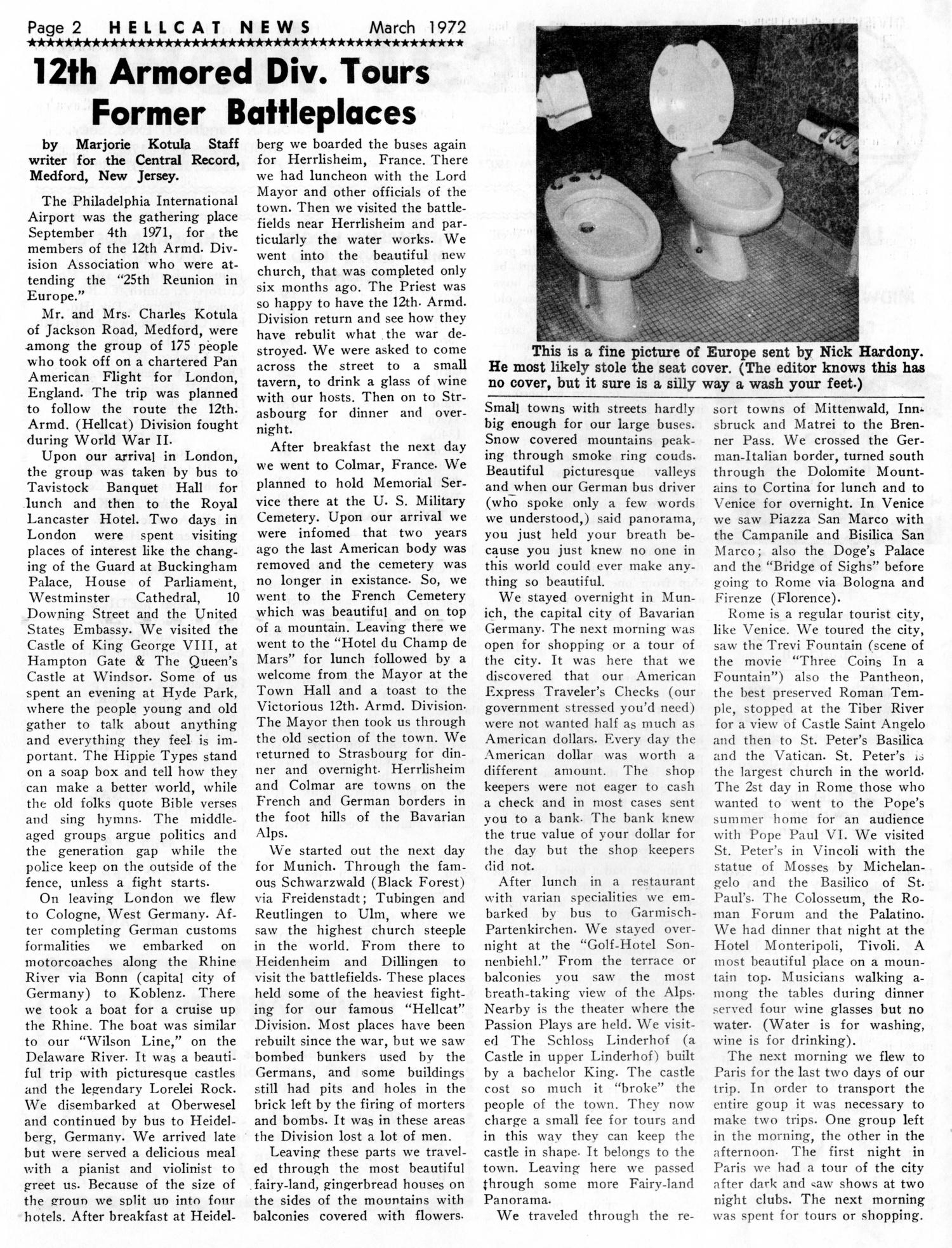 Hellcat News, (Maple Park, Ill.), Vol. 26, No. 7, Ed. 1, March 1972                                                                                                      [Sequence #]: 2 of 10