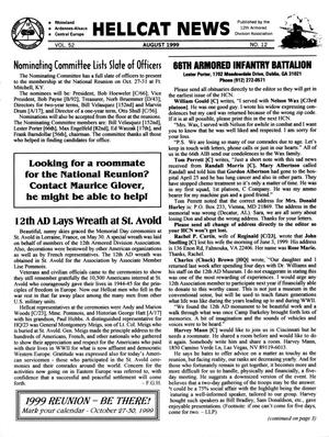 Primary view of object titled 'Hellcat News, (Kingman, Ariz.), Vol. 52, No. 12, Ed. 1, August 1999'.