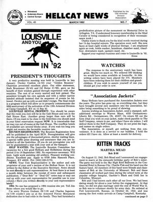 Primary view of object titled 'Hellcat News, (Seward, Neb.), Vol. 45, No. 7, Ed. 1, March 1992'.