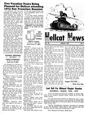 Primary view of object titled 'Hellcat News, (Maple Park, Ill.), Vol. 26, No. 7, Ed. 1, March 1973'.