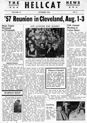 Primary view of object titled 'Hellcat News, (Lawrenceville, N.J.), Vol. 11, No. 2, Ed. 1, October 1956'.