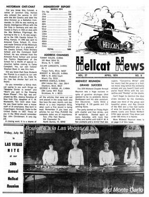 Primary view of object titled 'Hellcat News, (Maple Park, Ill.), Vol. 27, No. 8, Ed. 1, April 1974'.