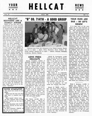 Primary view of object titled 'Hellcat News, (Detroit, Mich.), Vol. 16, No. 11, Ed. 1, July 1962'.