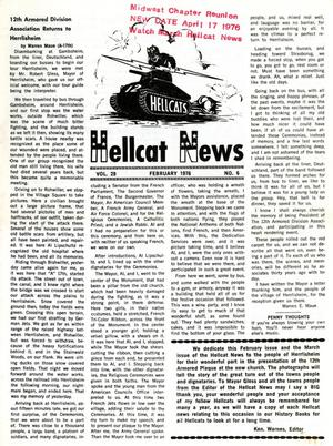 Primary view of object titled 'Hellcat News, (North Aurora, Ill.), Vol. 29, No. 6, Ed. 1, February 1976'.