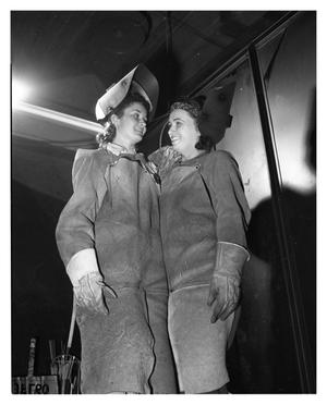 Primary view of object titled 'First Women Welders at Convair'.