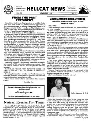 Primary view of object titled 'Hellcat News, (Kingman, Ariz.), Vol. 52, No. 3, Ed. 1, November 1998'.