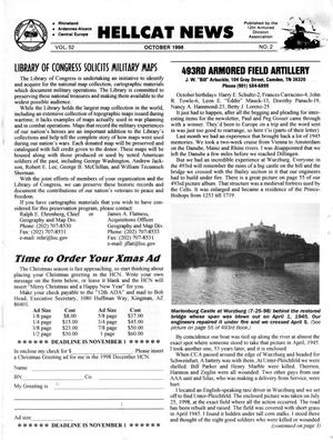 Primary view of object titled 'Hellcat News, (Kingman, Ariz.), Vol. 52, No. 2, Ed. 1, October 1998'.