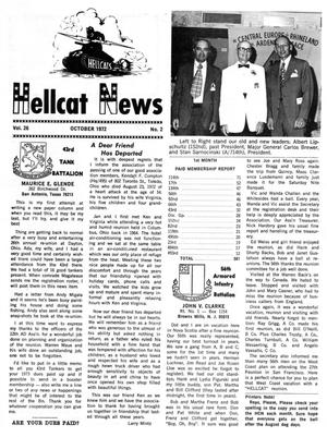 Primary view of object titled 'Hellcat News, (Maple Park, Ill.), Vol. 26, No. 2, Ed. 1, October 1972'.