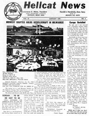 Primary view of object titled 'Hellcat News, (Skokie, Ill.), Vol. 22, No. 5, Ed. 1, January 1968'.