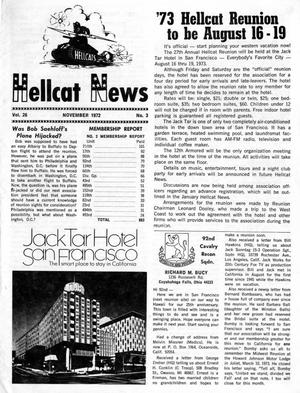 Primary view of object titled 'Hellcat News, (Maple Park, Ill.), Vol. 26, No. 3, Ed. 1, November 1972'.