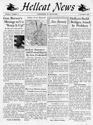 Primary view of object titled 'Hellcat News, (Tennessee.), Vol. 1, No. 8, Ed. 1, November 5, 1943'.